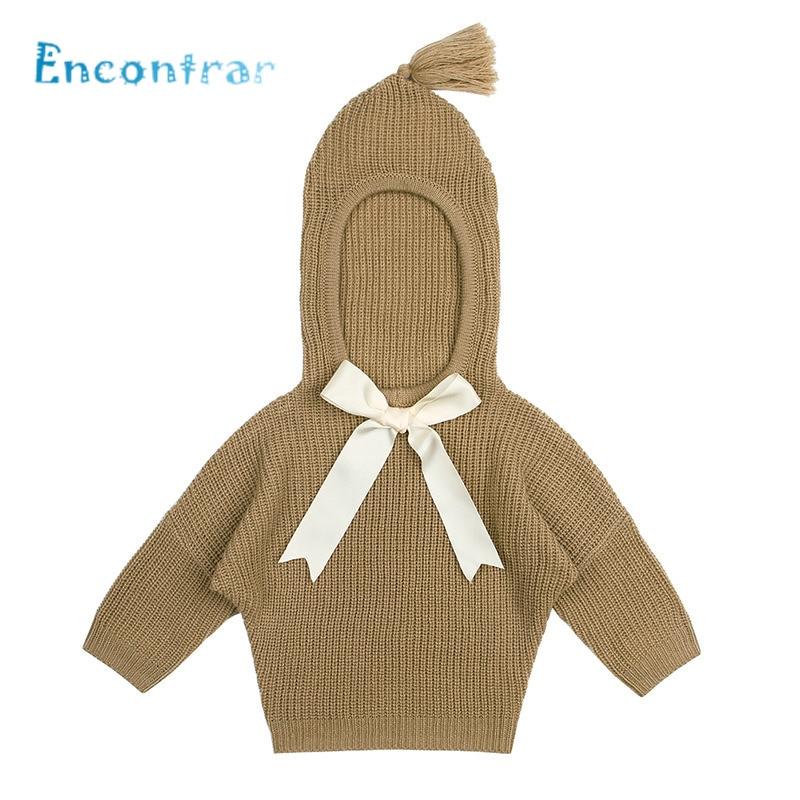 Dc504 KöStlich Encontrar Baby Bogen Dekoration Strickjacke Jungen Und Mädchen Lustige Winter Kleidung Kinder Mit Kapuze Langarm Pullover 6 Mt 24 Mt