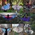 2018 Women Butterfly Wing Large Fairy Cape <font><b>Scarf</b></font> Bikini Cover Up Chiffon Gradient Beach Cover Up Shawl <font><b>Wrap</b></font> Peacock Cosplay