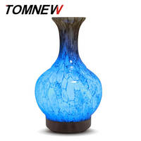 TOMNEW 100ml Glass Aromatherapy Essential Oil Diffuser Ultrasonic Aroma Diffuser Cool Mist Air humidifier for Home Office or Spa