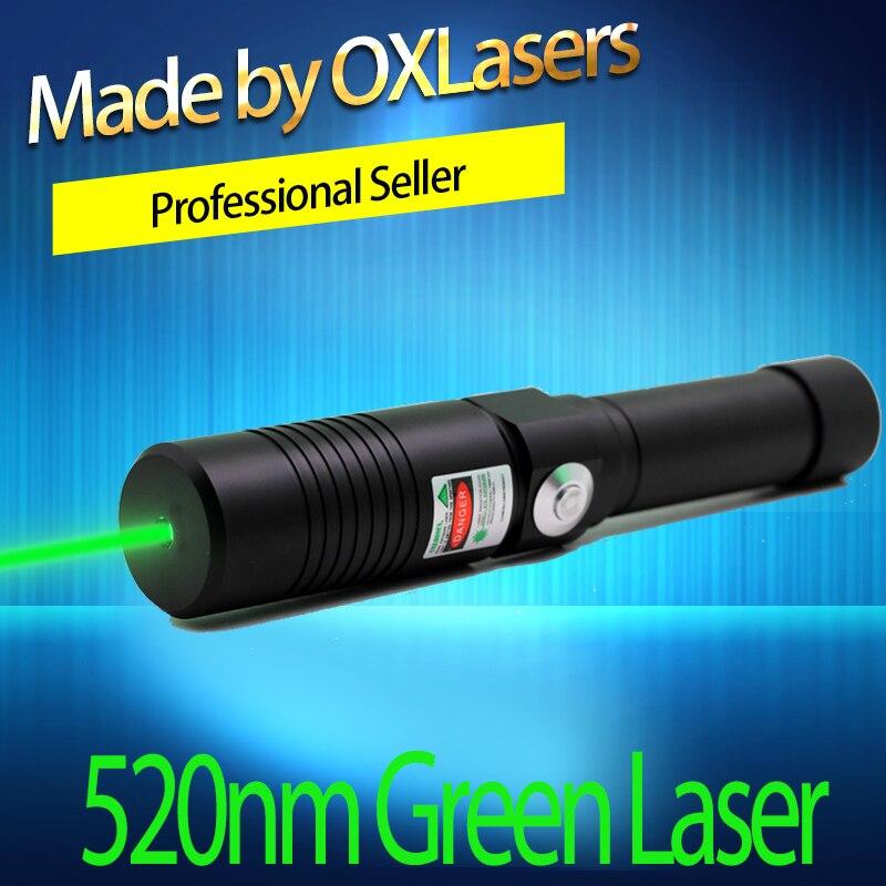 OXLasers OX-GX9 520nm (PAS 532nm) 1kmW Focalisables Vert pointeur Laser les Plus Brillants Gravure Laser avec clé de sécurité livraison gratuite