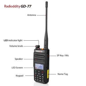 Image 4 - Radioddity GD 77 DMR כפולה זמן חריץ כפול להקת דיגיטלי/אנלוגי שתי דרך רדיו 136 174/400  470MHz חם ווקי טוקי עם סוללה