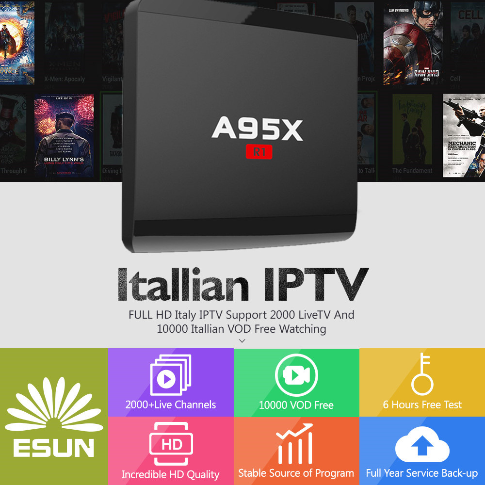 A95X R1 Italy IPTV Box With 1 Year 1G/8G Italy IPTV EPG 4000+Live+VOD configured Europe Albania ex-yu XXX channels BOX italy iptv a95x pro voice control with 1 year box 2g 16g italy iptv epg 4000 live vod configured europe albania ex yu xxx