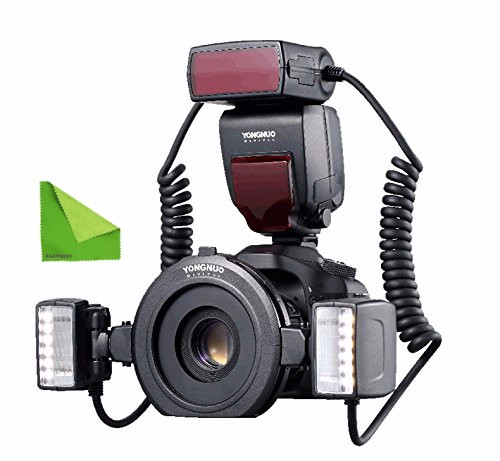 YONGNUO YN-24EX TTL Macro Ring Lite Flash Speedlite Light Flashes for Canon & all with MicroFiber Cloth