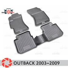 Коврики для Subaru Outback 2003 ~ 2009 ковры Нескользящие полиуретановые грязи защиты подкладке автомобиля средства укладки волос