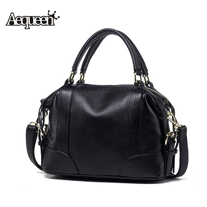 AEQUEEN 100% Genuine Leather Handbag Women Shoulder Bag Crossbody Messenger Bags Lady Totes European Style Large Top-Handle Bag women messenger bags 2015 100% crossbody women bag