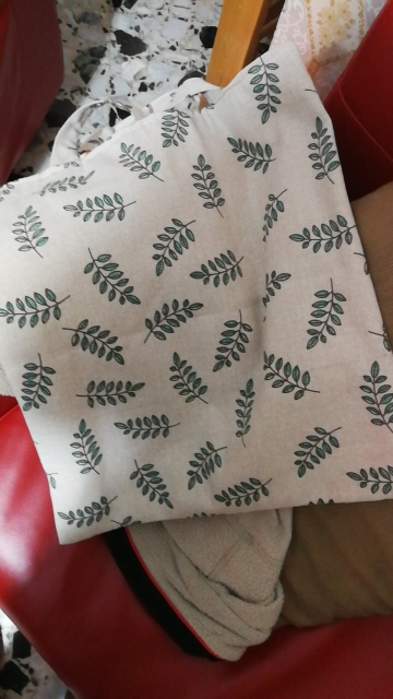 YILE Updated Cotton Linen Shopping Tote Shoulder Carrying Bag Eco Reusable Bag Print  Green Olive Branch  L017 photo review