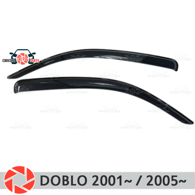 цена на Window deflector for Fiat Doblo 2001~ / 2005~ rain deflector dirt protection car styling decoration accessories molding