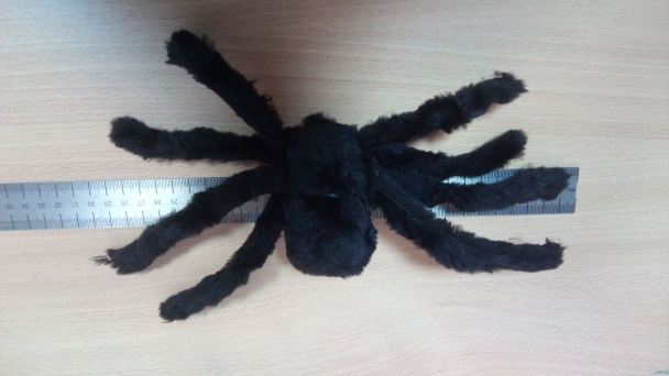 Horror Big Furry Spider Trick Animal Spider Toy Halloween Decoration Party Party Stage PerformanceHorrifying Black