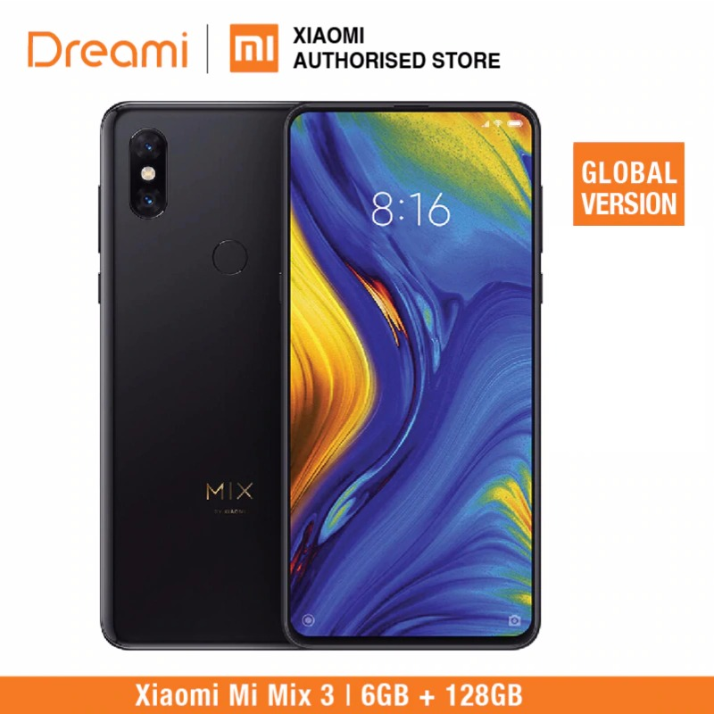 Global Version Xiaomi Mi Mix 3 128GB ROM 6GB RAM (Brand New And Sealed Box)