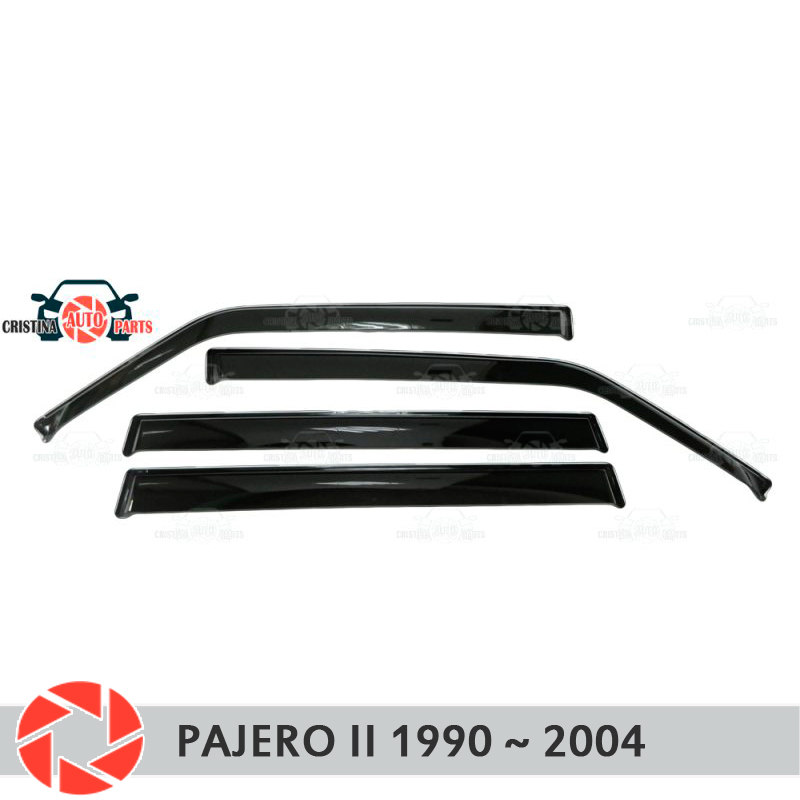 Window deflector for Mitsubisi Pajero 2 1990-2004 rain deflector dirt protection car styling decoration accessories molding window deflector for mitsubisi pajero 2 1990 2004 rain deflector dirt protection car styling decoration accessories molding