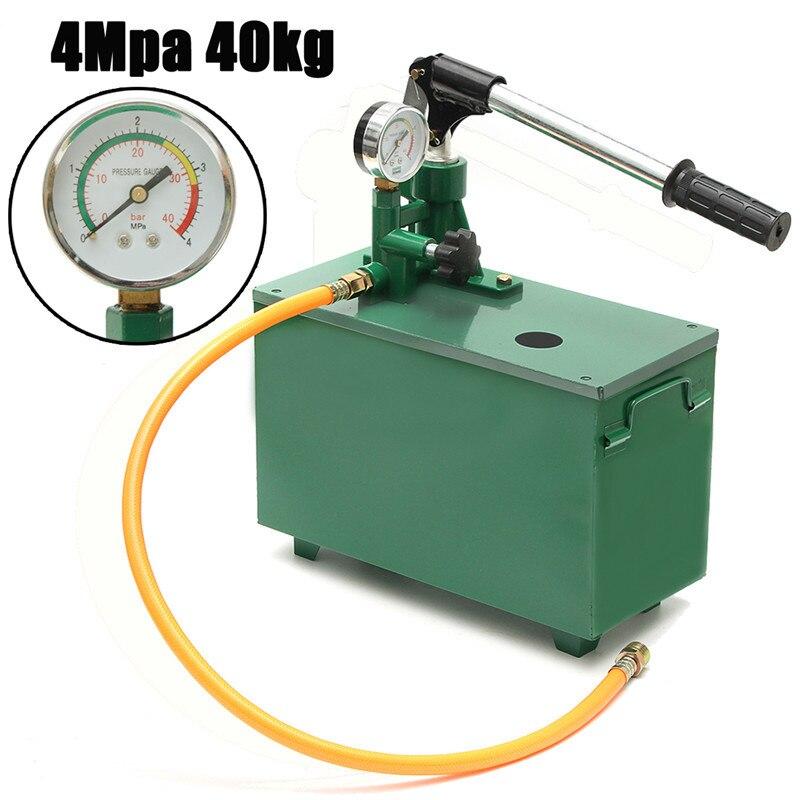 все цены на  1 Set 4Mpa 40kg Hydraulic Water Pressure Pipeline Leak Detector Test Pump Machine Vessels Pipes Valves Measuring Tool  онлайн