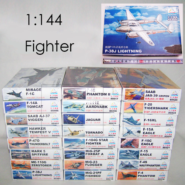 1: 144 Fighter Military Plastic Assembly Aircraft Model 25 Kinds to Choose 804201 - 80425 1 144 soviet mig 25 fighter military aircraft assemble model 80412