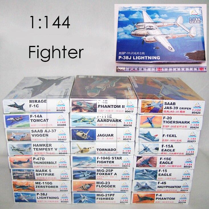 1: 144 kämpfer Militärische Kunststoff Montage Flugzeug Modell 25 Arten zu Wählen 804201-80425