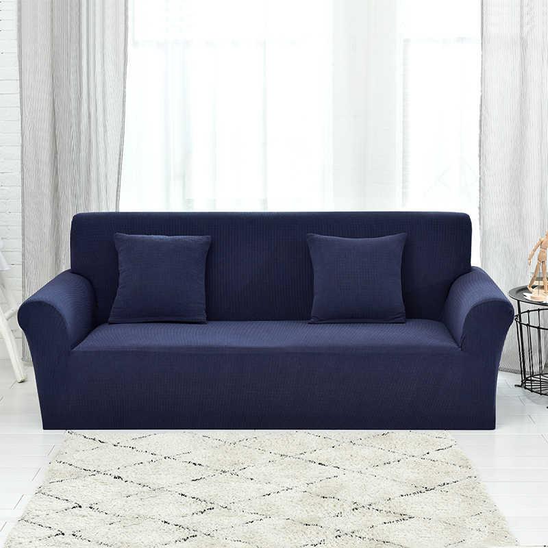 高級厚手ニット生地ソファカバーシングルラブシートサイズユニバーサルストレッチリビングルームの家具のカバーカバー