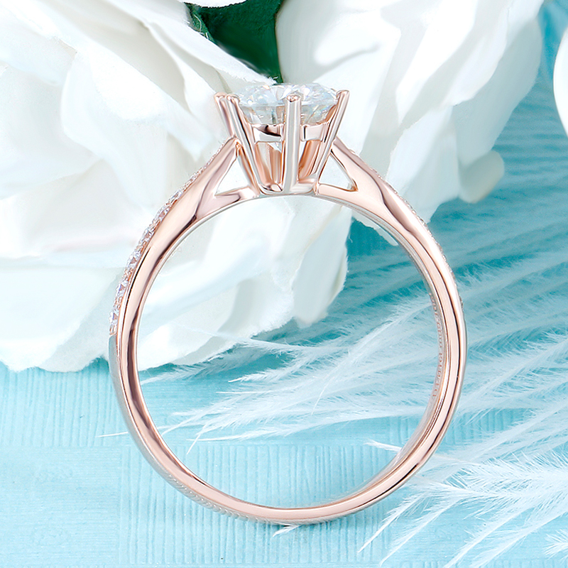 moissanite rose gold emgagement ring (2)