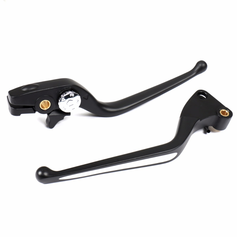 Left Right Black Shallow Cut Brake Clutch Lever Set For 2008 2015 Victory Hammer 8 Ball