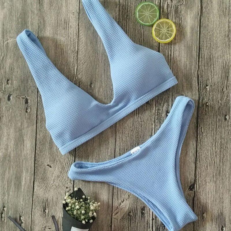 17 Summer Women Bandage Bikini Set Swim Clothes Push-up Padded Bra Swimsuit Bathing Suit Swimwear 4