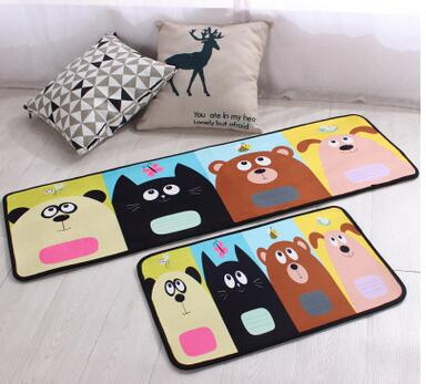 Cartoon cat/dog plush rug door mat kitchen carpets bedroom rugs decorative stair mats home decoration anti slip
