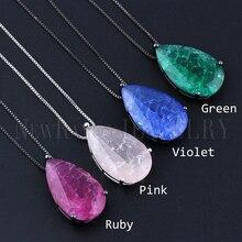 Newranos collier pendentif en forme de goutte deau pour femmes, pierre naturelle à la mode, collier à la mode, bijoux à la mode, NFX001724
