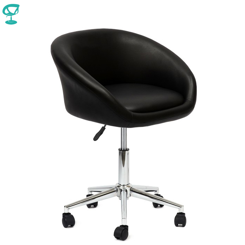 94729 Barneo N-311 Leather Roller Kitchen Chair Swivel Bar Chair Black Free Shipping In Russia