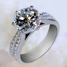 2017 Europe Luxurious Classic Ring Silver Plated Women's Ring US Sizes 5-9