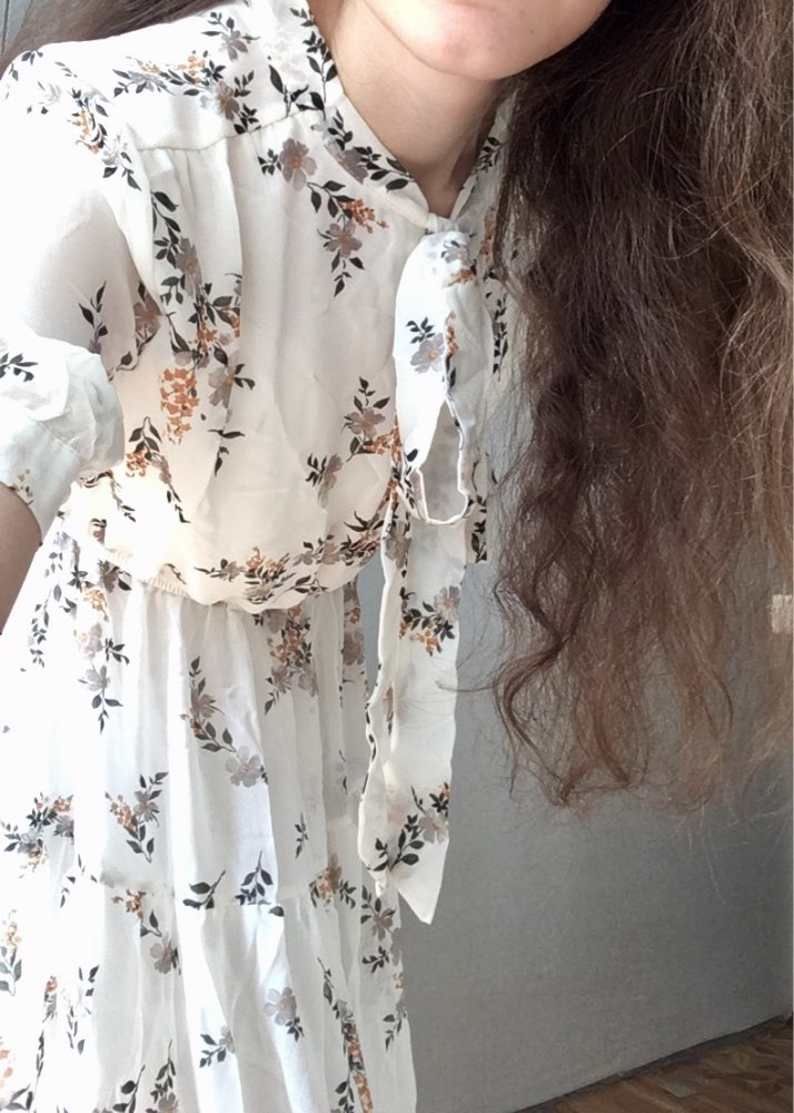 Sweet Dress Summer Women Floral Print Long Chiffon Dress Female Short Sleeve Pleated Vestidos Korean Fashion photo review