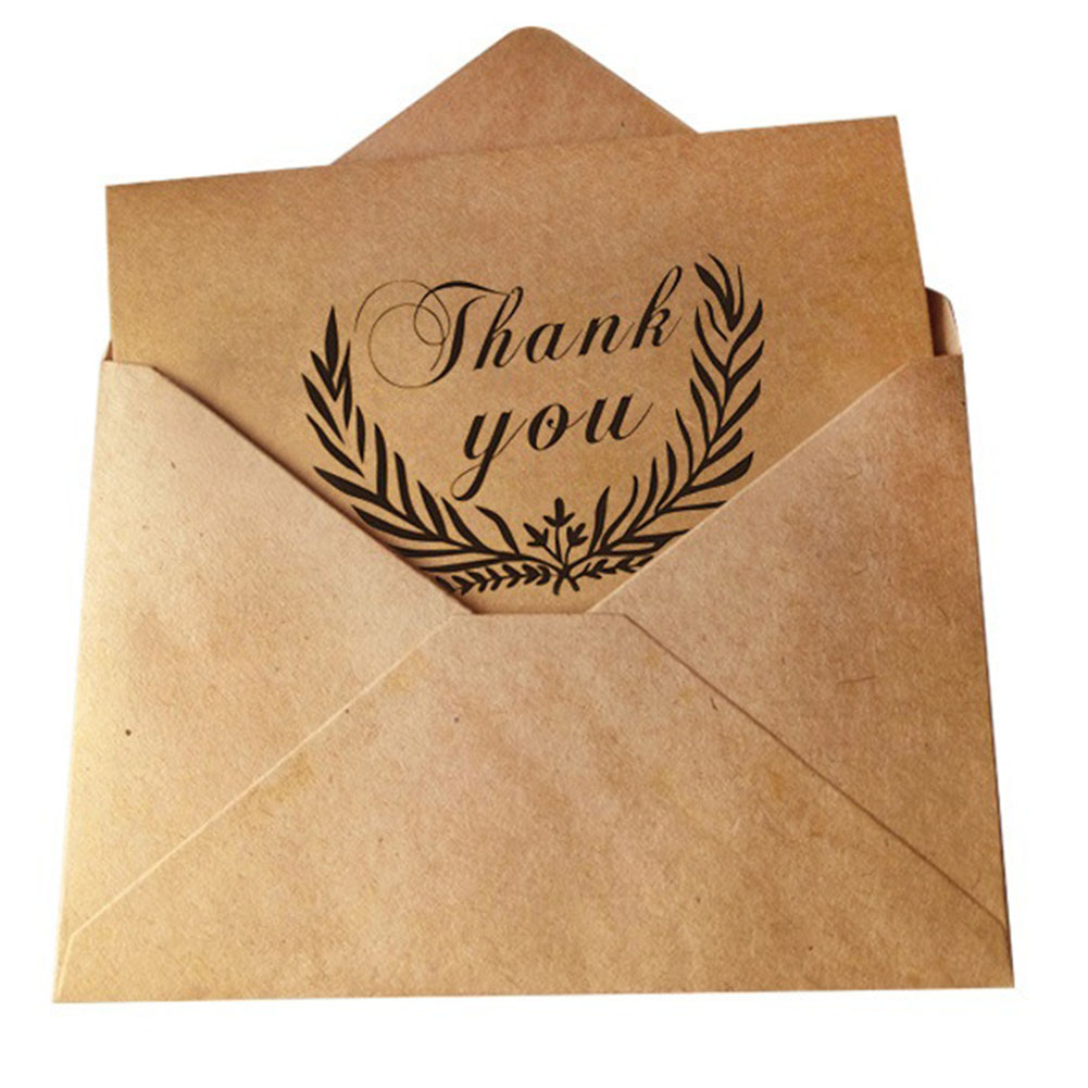 1 Pcs Vintage Thank You Cards Birthday Christmas Card Envelope Writing Paper Stationery Wedding Party DIY Greeting Cards