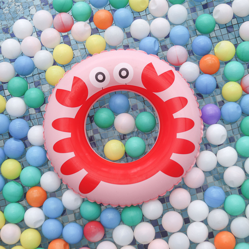 Baby Swimming Ring Inflatable Pool Float Crab Kids Swim Circle Floating Children Swimming Pool Accessories Toys