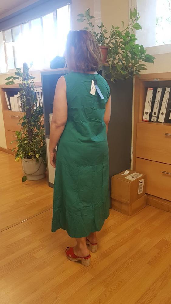 Linen Dress Women Summer Dresses Sleeveless Ink Painting Cotton Vestidos Ladies Mid Calf Vestido Womens Plus Size Dresses photo review