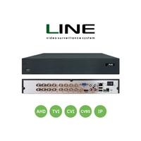 Line 16 channel Hybrid Video Recorder Cctv Onvif Nvr 16ch HDD Hdmi Dvr For Multi format 8MP TVI CVI CVBS AHD IP Camera
