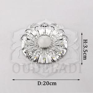 Image 5 - Led Gangpad Lichten Bloem Vormige Crystal Spots Downlighters Ingebed Plafond Creatieve Gang Woonkamer Slaapkamer