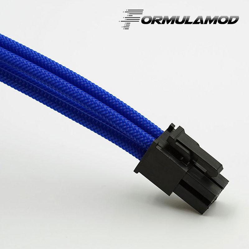 FormulaMod Fm-cpu 4P-A, cpu 4Pin удлинитель питания, материнская плата 18AWG 4Pin многоцветные соответствующие кабели расширения - Цвет лезвия: Blue