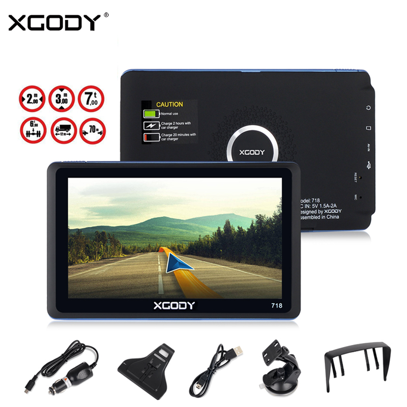 XGODY 7 Inch Car GPS Navigator 128MB 8GB FM Bluetooth Touch Screen GPS Navigation Reverse Camera SAT NAV Navitel Free Europe Map 7 0 touch screen wince 6 0 mtk3351 gps navigator with fm 4gb tf card w europe map black