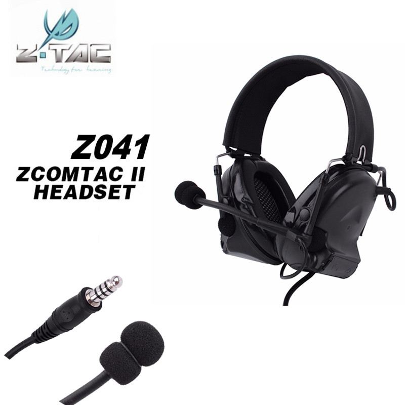 Z Tactical Comtac 2 headphone Hunting Comtac II Headset Airsoft Paintball Headset Active Noise Canceling Airsoft Earphone Z041 new z tac comtac iii headset c3 dual channel pickup noise reduction headset airsoft hunting earphone