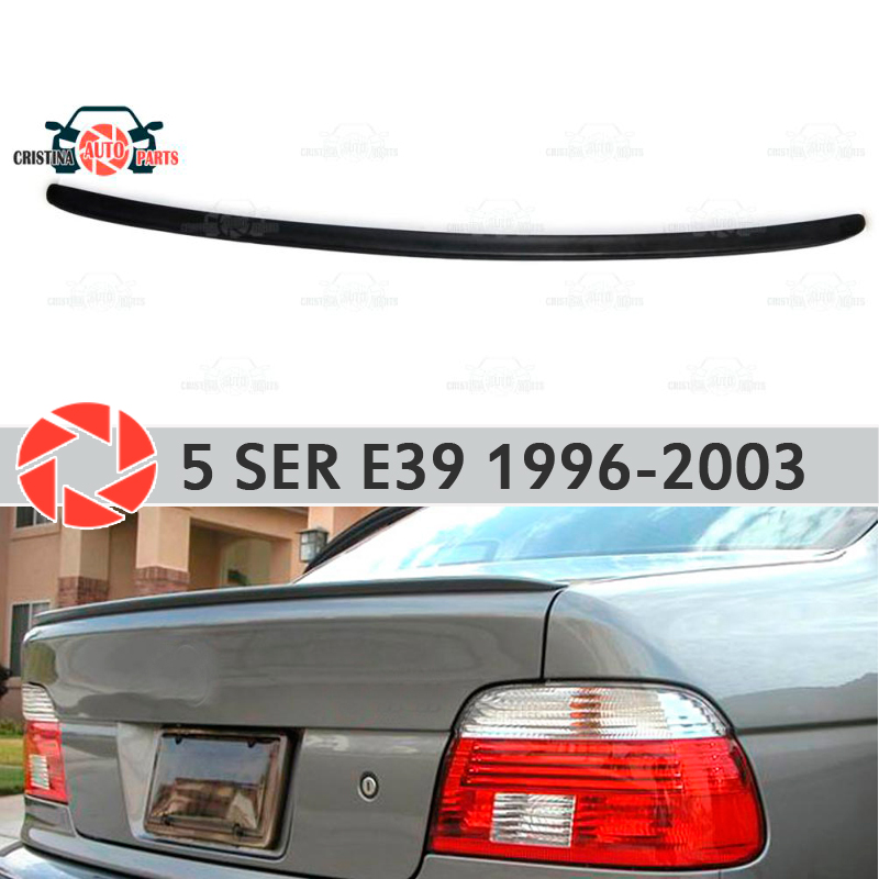 Lip spoiler for BMW 5 Series E39 1996-2003 plastic ABS decoration trunk door accessories protection car styling molding mogwai mogwai government commissions bbc 1996 2003