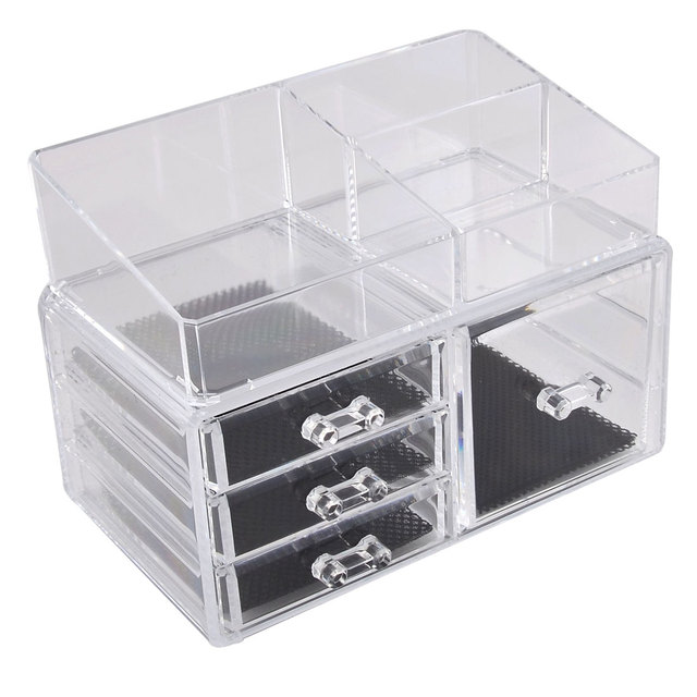 UXCELL Acrylic Cosmetic Makeup Charm Watch Storage Case Jewelry