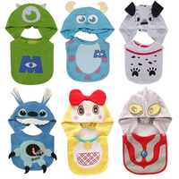 Cute Cartoon Animal Cotton Set Baby Bibs With Hat Burp Cloths