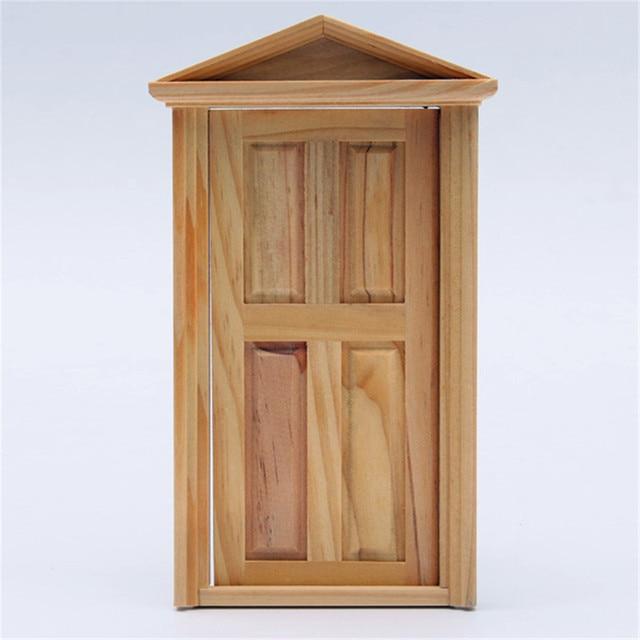 Charmant DIY Handmade Miniature 4 Panel Wooden Classical Exterior Door Frame For  Children 1/12 Dollhouse