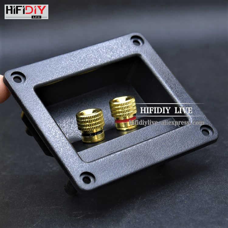 HIFIDIY динамик реального времени распределительная коробка клеммы акустические коробки оболочки 2 медных связывания пост (установить в отверстие 75x55 мм) провода Кабельный разъем