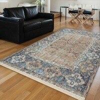 Else Blue Brown Persian Ethnic Authentic Vintage Retro 3d Print Anti Slip Kilim Washable Decorative Area Rug Bohemian Carpet