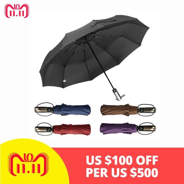 39389a6b93b2 Dropship New Automatic Three Folding Automatic Umbrella Sun Rain Women Male  Auto Luxury Windproof Travel Umbrellas For Men Black-in Umbrellas from ...