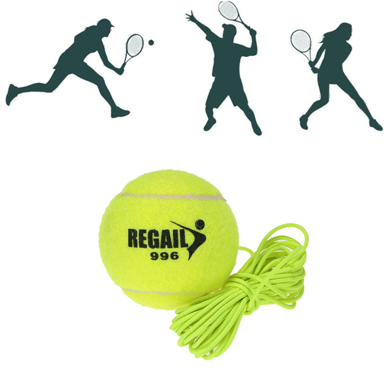 1Pc Durable Tennis Ball With String Trainer Replacement Rubber Woolen Training Sport Balls For Training