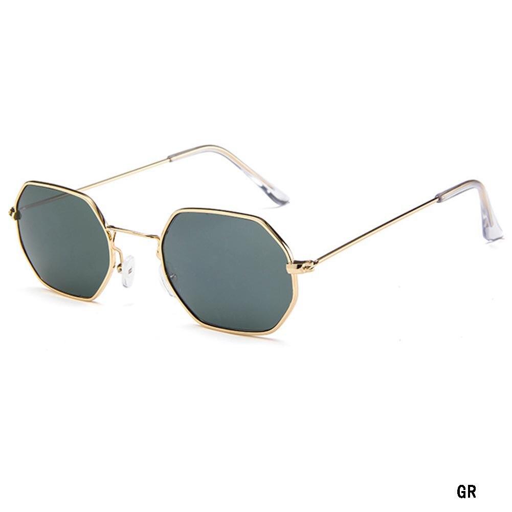 2017 New Arrival Hexagon Square Clear Sunglasses Women Fashion Brand Designer Men Vintage Metal Frame Mirror Optical Sunglass