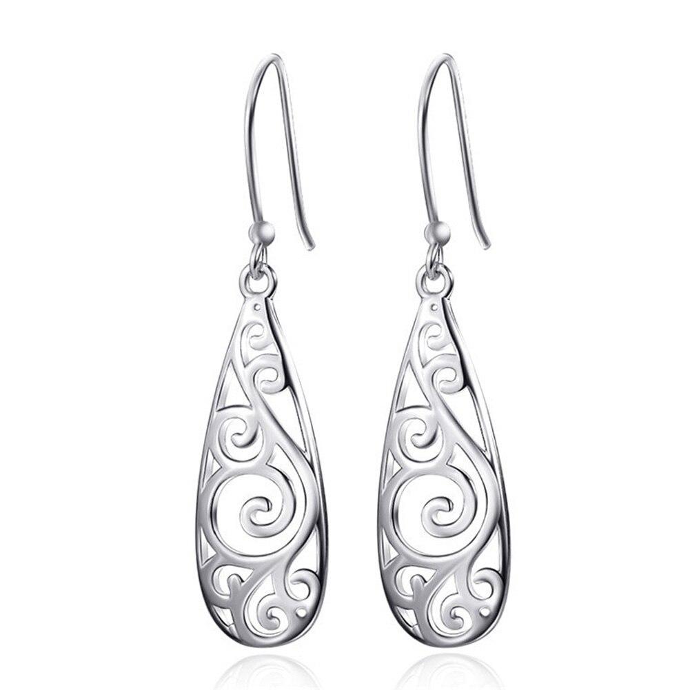 Punk Statement Hollow Pendant Earrings Long Drop Dangle Earrings For Women Creative Figure Earing Jewelry Gift