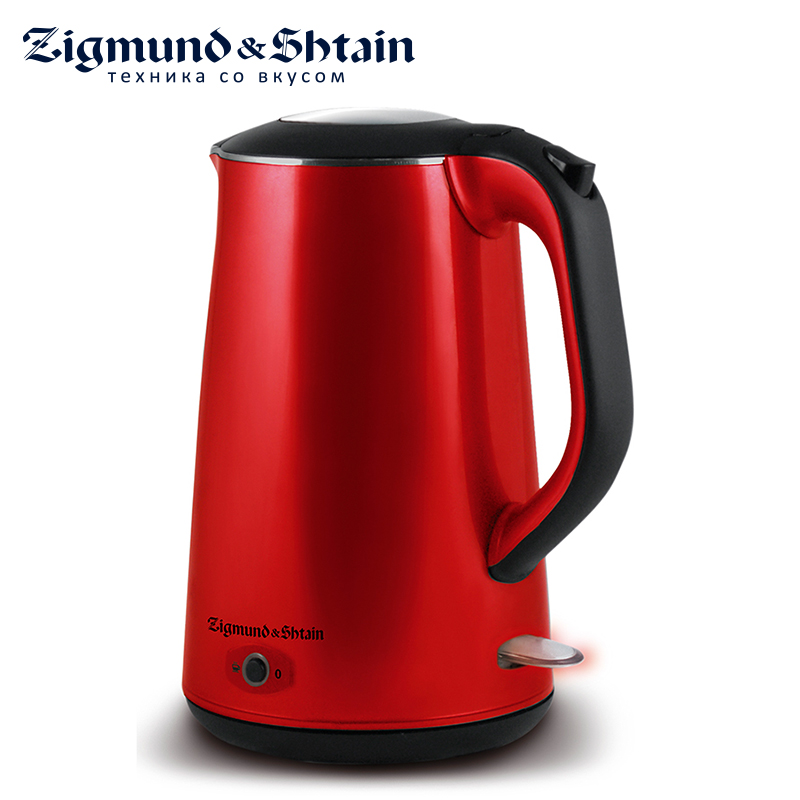 Zigmund & Shtain KE-79 Electric Kettle 2200W Low noise at boiling Non-heating external plastic surface vostok 641643 восток