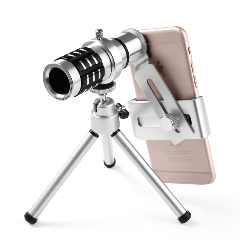 mobile phone 12x telescope Camera Zoom optical Cellphone Lens monocular For iphone samsung Huawei oppo vivo xiaomi