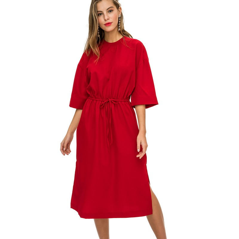 Dresses dress befree for female  half sleeve women clothes apparel  casual spring 1811325561-70 TmallFS exaggerate bell sleeve buttoned keyhole dress