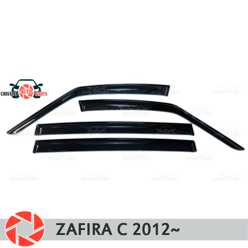 Window deflector for Opel Zafira C 2012- rain deflector dirt protection car styling decoration accessories molding yuzhe auto automobiles leather car seat cover for opel astra h g vectra c mokka zafira b corsa d zafira car accessories styling