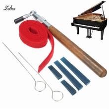 Zebra 1 Set Piano Tuning Hammer Mute Kit Tools Tuning Hammer+Temperament Strip+Mute Handles+Long Rubber Mutes+Short Rubber Mutes