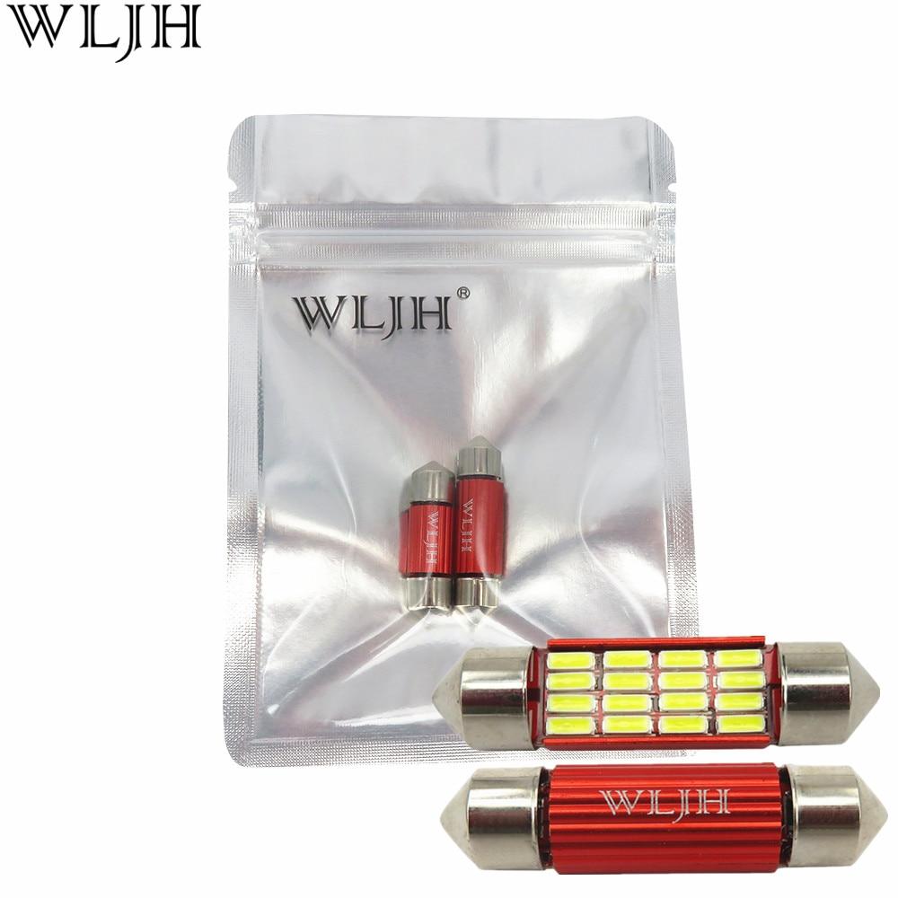 WLJH 2x Canbus LED 31mm 36mm 39mm 41mm C5W C10W 4014 SMD Car Styling - Auto lukturi